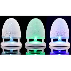 Lampe multi-couleurs et Lecteur MP3/Bluetooth/Radio FM avec carte MicroSD de 8 Go...