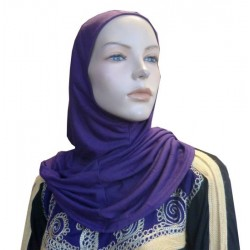 Simple purple one-piece hijab