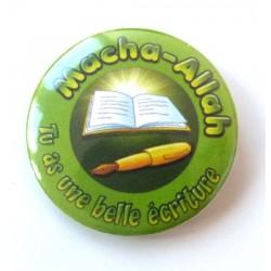 Macha-Allah badge: You have beautiful writing (Dark green)