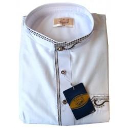 Qamis Al-Othaiman white round neck with pants - Size 60 (XXL)