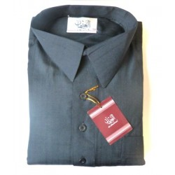 Qamis Al-Othaiman with shirt collar and pants - Gray - Size 58 (XL)