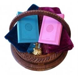 Pack Cadeau Pour Mariage (magnifique panier avec deux tapis et deux Coran en langue...