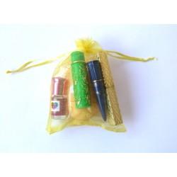 Oriental Beauty & Care Pack for women: 2 Khols - Feminine Musc d'Or fragrance - Aleppo...