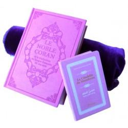 Pack cadeau : Le Noble Coran (bilingue français/arabe) mauve + La Citadelle Du Musulman...