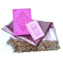 Pack cadeau rose pour femmes : Le Noble Coran (bilingue français/arabe) + La Citadelle...