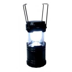 Lanterne solaire de camping ou de jardin de 6 LED rechargeable équipée d'une cellule...