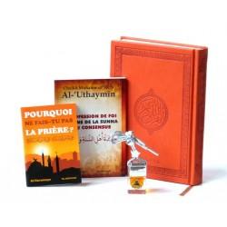 Pack Cadeaux Orange : Le Saint Coran version arabe + La profession de foi + Pourquoi ne...