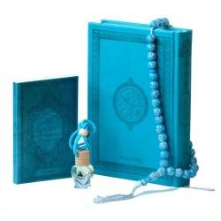 Pack Cadeaux Bleu : Le Saint Coran version arabe + La Citadelle du musulman + Diffuseur...