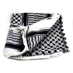 Palestinian black & white ghutra (scarf) (gutra)