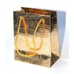 Sac cadeau doré (14 x 11 x 6,5 cm)