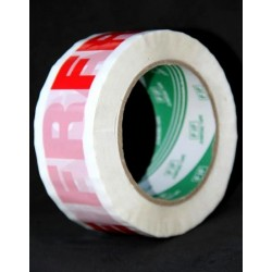 "Adhesive roll with the mention ""Fragile"" special package (100 meters)"