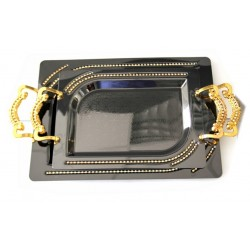 Set of two assorted rectangular trays of different size
