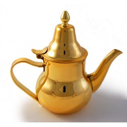 Moroccan stainless steel teapot (0.4L) of superior golden quality