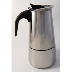 Italian Espresso coffee maker with stainless steel filter (Moka Coffee Pot Silver)...