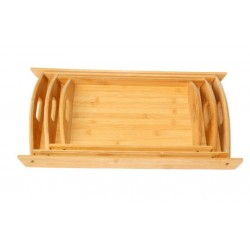 Set of 3 wooden trays (assorted in different size)