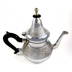 Moroccan decorated medium teapot in stainless steel (0.6L)