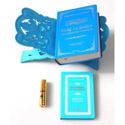 Pack Cadeau bleu (bilingue) : Riyad As-Salihîn, La Citadelle du musulman, Porte-Coran...