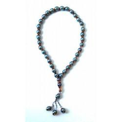"Luxury golden blue ""Sebha"" rosary (33 beads)"