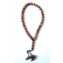 "33-grain ""Sebha"" rosary with silver patterns"