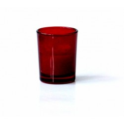 Scented candle in the form of a burgundy flower