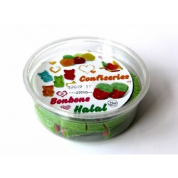 Box of Halal cable-pipe candy candy filled and sweet watermelon flavor (145g net)