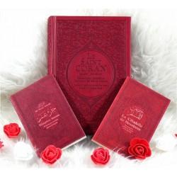 Coffret/Pack Cadeau Musulman de couleur Bordeaux : Le Saint Coran Rainbow, Chapitre...
