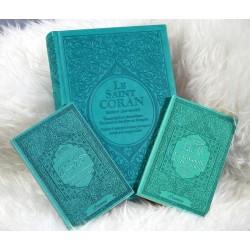 Coffret/Pack Cadeau musulman Vert-Bleu : Le Saint Coran Rainbow (arc en ciel), Chapitre...
