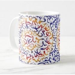 Mug with interwoven arabesque decorations (multicolor)
