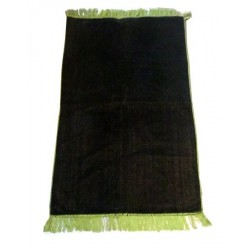 Plain dark green velvet muslim prayer rug