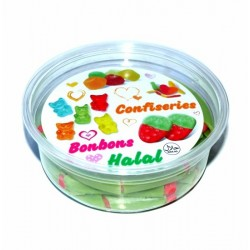 Box of candy candy halal cable-pipe watermelon flavor filled and smooth (145g net)