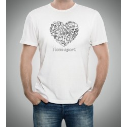 "Customizable T-Shirt ""I Love Sport"" - I love sport"