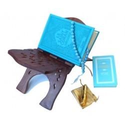 Pack Cadeau de Luxe Couleur Bleu (mixte) : Le Saint Coran et La Citadelle du musulman...