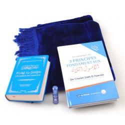 Pack Cadeau Bleu : Riyâd es-Sâlihîne + Commentaire des 3 principes + Tapis + Parfum de...