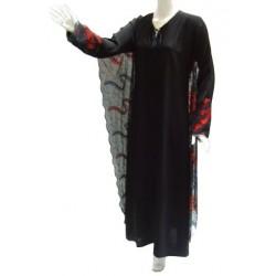 Hanane black and red evening dress