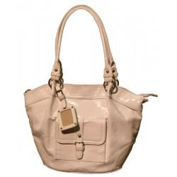 Large white patent travel handbag + Gift to take in your bag
