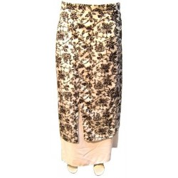 White Anissa skirt with black patterns