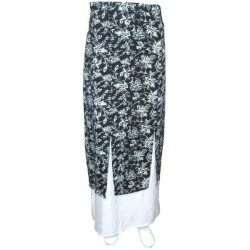 Black Anissa skirt with white patterns