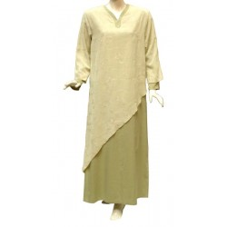 Assia embroidered dress - diagonal ruffle