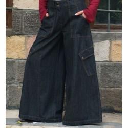 Extra large blue jeans pants: Denim Lengha Pants [wP0504]