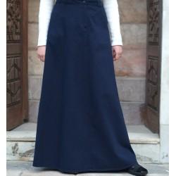 100% cotton pleated skirt - Pleated Pencil Skirt [wT0014]