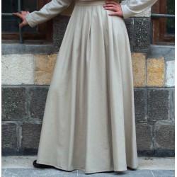 Flared skirt 100% cotton - Pleated Flared Skirt [wT0015]