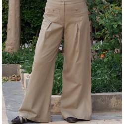Wide Leg Pants - Pleated Wide Leg Pants [wP3102]