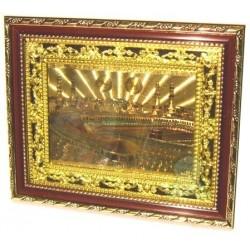 Tableau décoratif en bois doré : La Sainte Mosquée de La Mecque