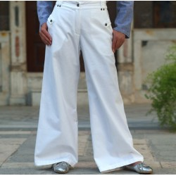 Kalima pants with pockets - Kalima Cotton Pants [wP3701]