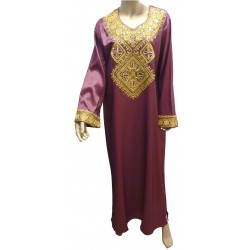 """""""Chaima"""" evening dress with gold embroidery"""