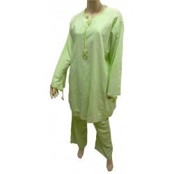 """Light green """"Ikram"""" set (tunic and pants)"""