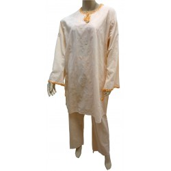 """Salmon color """"Ikram"""" outfit (tunic and pants)"""