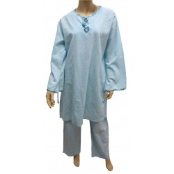 """Sky blue """"Ikram"""" outfit (tunic and pants)"""