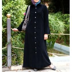 Coat-jilbab - Corduroy Shirtdress Jilbab [wD7405]