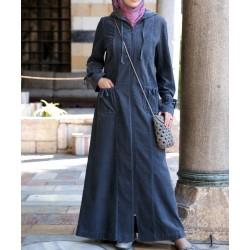 Tunisian corduroy coat - Corduroy Harlem Jilbab [wO0113]